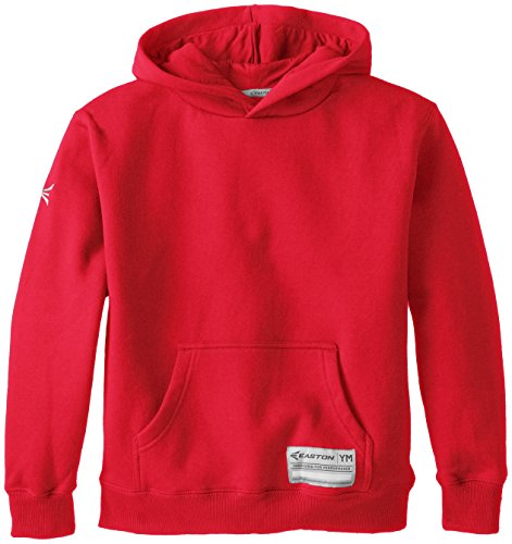 - Easton Youth Rival Cotton Hoodie, Red, Medium