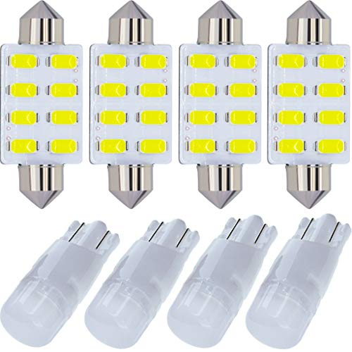 12x Bright White Interior LED Light Package Kit Compatible with Ford F-150 1997-2014 F-250 F-350 F-450 F-55 2000 2001 2002 2003 2004 2005 2006 2007 2008 2009 2010 2011 2012 2013 2014 Replacement Bulbs ()
