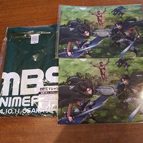 進撃の巨人 リヴァイ MBS ティシャツ クリアファイル 2枚 計3点の商品画像