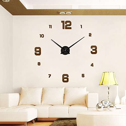 Amazon.com: Wall Clock 2018 Modern Design Rushed Quartz Clocks Fashion Watches Mirror Sticker DIY Living Room Decor 3D Real Big: Home & Kitchen