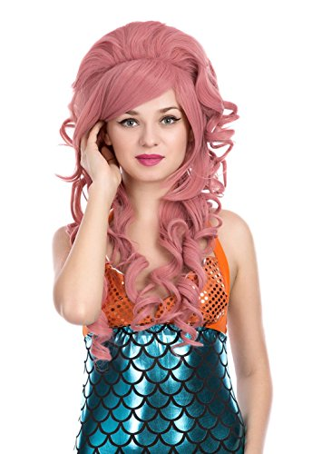 ZUUC Womens Costume Cosplay Wig (Red Rubber ZU1665E)]()