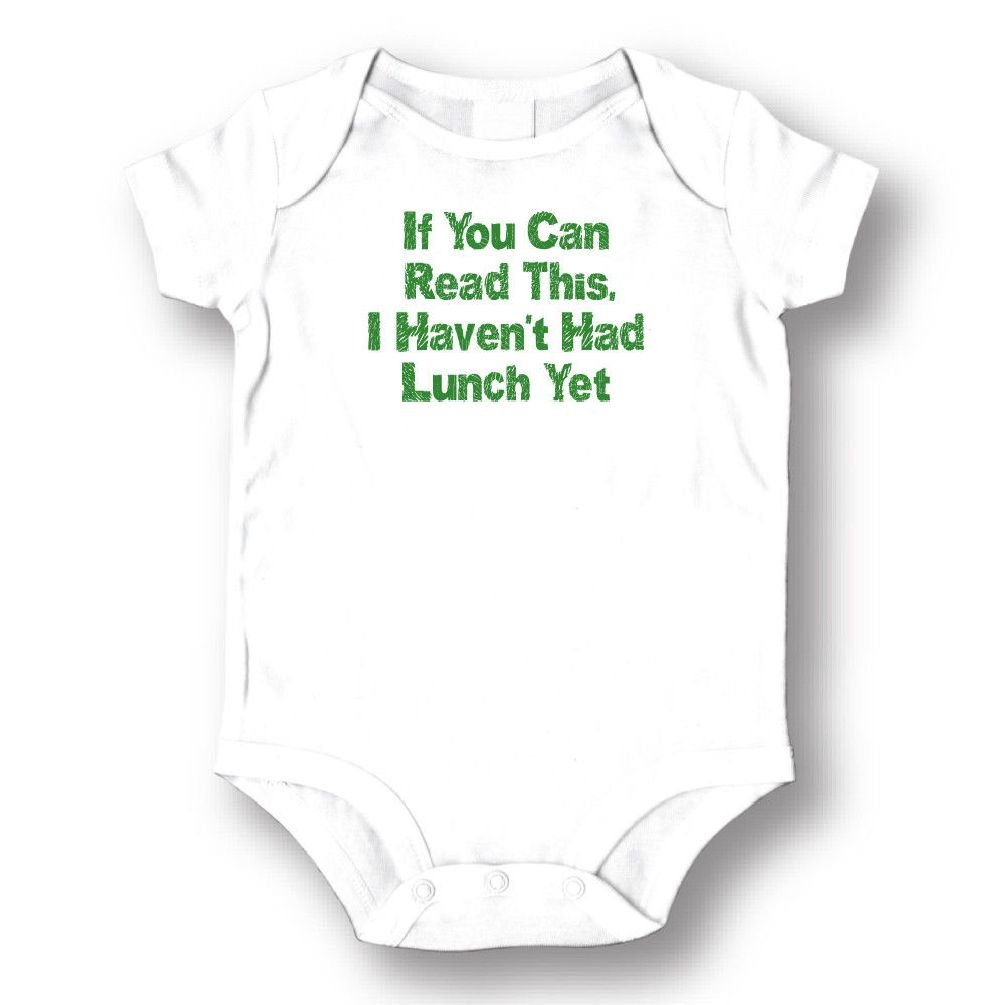 Dustin clothing series If You Can Read This I haven't Had My Lunch Baby Boys Girls Toddler Romper 0-24M