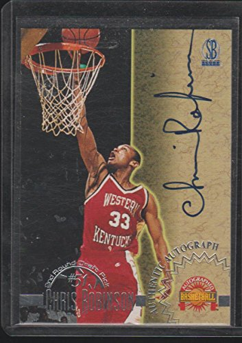 (1996 Score Board Chris Robinson W. Kentucky Autographed Basketball Card #NNO)