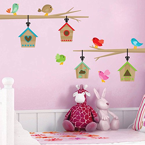 Branches and Birdhouses Kids Room Playroom Décor Wall Decal - 16