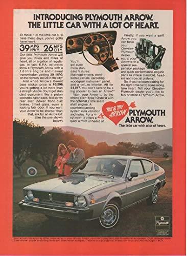 Magazine Print Ad: 1977 Plymouth Arrow GT $4017,