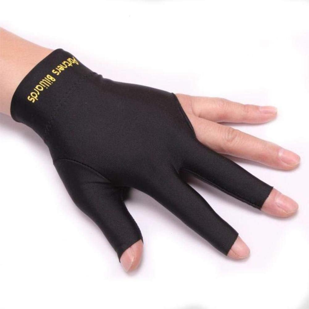 Unisex Elastic Lycra 3 Fingers Show Sports Gloves Billiard Pool Carom Cue Sport