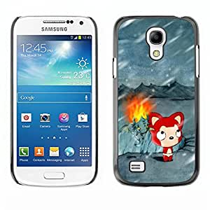 Impact Case Cover with Art Pattern Designs FOR Samsung Galaxy S4 Mini i9190 Cute Winter Cat Betty shop