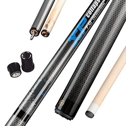 Collapsar XP02 Jump Break Cue Pool Sticks 58 Inch 3-Piece Maple Shaft Quick Release Joint 19.5 20 OZ (Blue, 20OZ)