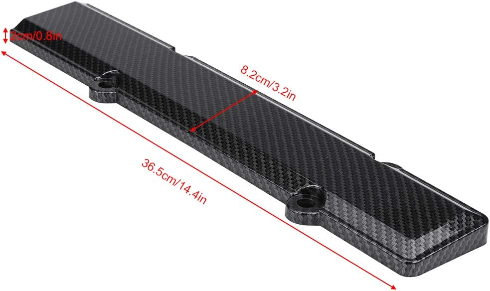 Akozon Carbon Fiber Engine Valve Cover Spark Plug Insert for Honda Acura B18 B16 VTEC
