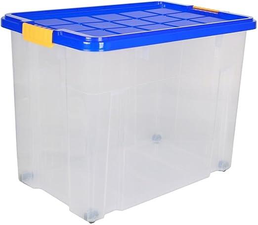 axentia 3 pcs unibox con Tapa y Ruedas apilable Caja de ...