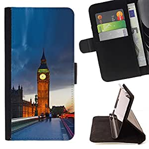For LG OPTIMUS L90 The Big Ben London Beautiful Print Wallet Leather Case Cover With Credit Card Slots And Stand Function