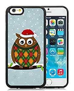 Customization iPhone 6 Case,Christmas Owls Black iPhone 6 4.7 Inch TPU Case 2