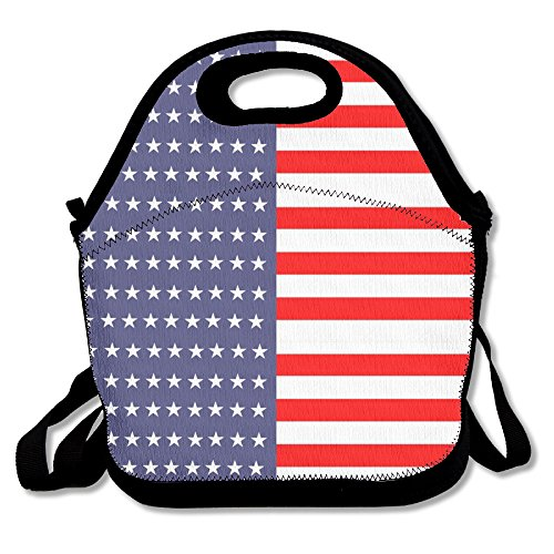 - Blue Stars Stripes USA Flags Lunch Bag Cool