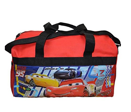 - Mozlly Multipack - Disney Pixar Cars Duffle Bag - 17 x 11 x 10 inch - Heavy Duty Polyester - Adjustable Shoulder Strap - Novelty Character Travel Accessories (Pack of 6)
