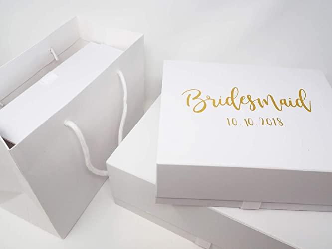 Bridesmaid Gift Box Personalised With Wedding Date And Name
