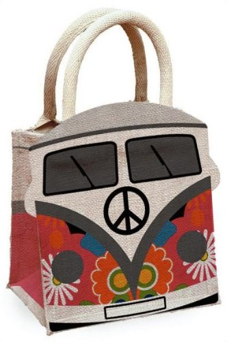 FABULOUS CAMPERVAN JUTE HESSIAN SHOPPING BAG..AVAILABLE IN 5 COLOURS BRAND  NEW (RED)  Amazon.co.uk  Kitchen   Home 1fafafda2423e
