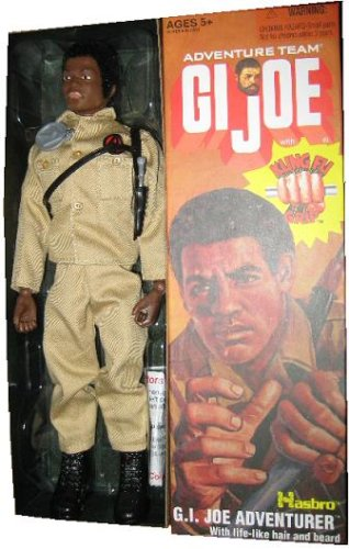"""NEW GI JOE 12/"""" ACTION FIGURE VINTAGE CLASSIC STYLE REPLACEMENT LEFT HAND BLACK"""