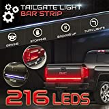 """Stop-Alert Most Powerful Multi-Function 60"""" Truck Tailgate Light Bar Strip - 216 LED and 468 Lumens - For Running Lights, Brake Signal, Reverse Back Up for SUV, Dodge Ram, Ford F-150"""