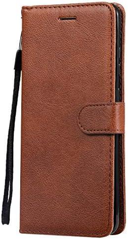 Docrax Galaxy S20 Ultra ケース 手帳型 スタンド機能 財布型 カードポケット マグネット ギャラクシーS20Ultra 手帳型ケース レザーケース カバー - DOKTU100510 茶