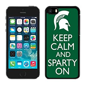 Customized Iphone 5c Case Ncaa Big Ten Conference Michigan State Spartans 17