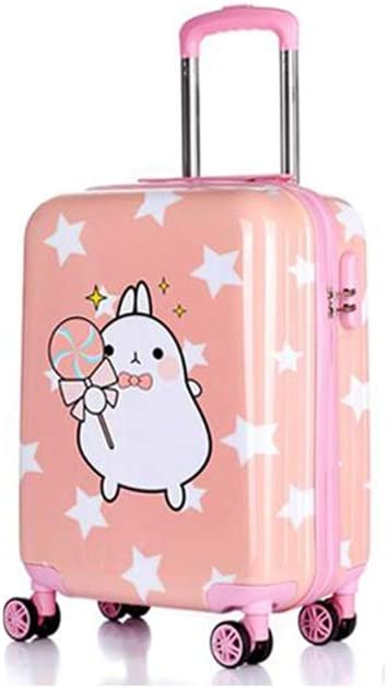 Wulianshangmao Trolley case Size : 19, Style : L 18//19//20 Cartoon Travel Trolley case Multi-Color Trolley case Universal Wheel Luggage