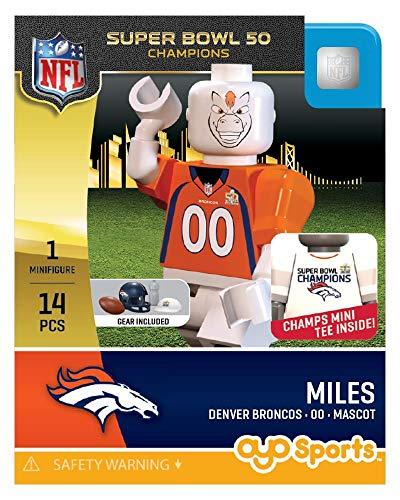 NFL Denver Broncos Super Bowl 50 Champions Miles OYO Mini Figure (Removeable Bowl)