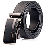 Jun Xiang Men Designer Belt Sliding Buckle Ratchet Belt Automatic Buckle 35mm Wide 1 3/8'' Great Gift Idea (D4-2-2)