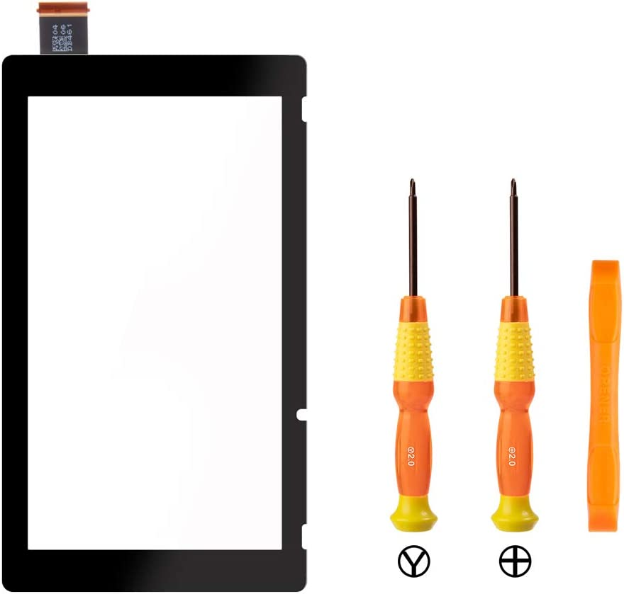 TOMSIN Digitizer Touch Screen Replacement Parts for Nintendo Switch - Include Tri-Wing, Phillips Screwdriver and Double-Ended Spudger