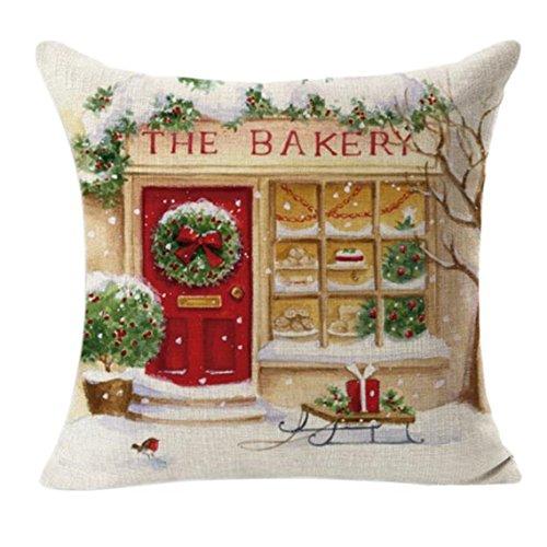 2017 New Cushion Covers!! Clearance! Festival Season Hot Sale Decorative Pillow Cushion (Christmas 3) (Christmas Throw Pillows Sale)