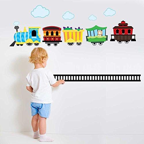 Choo Choo Train Wall Decal Kit - Boys Room Wall Decal Kit By Chromantics