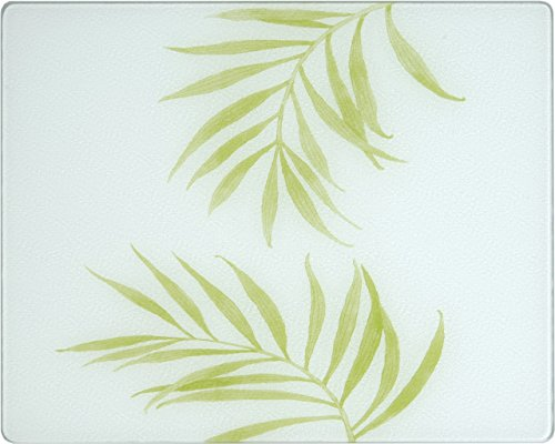 Corelle Bamboo Leaf 15 X 12 inch Counter Saver Tempered Glass Cutting Board, 91512BLH Corelle Coordinates Bamboo Leaf