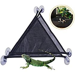 Viet-NA Habitat Decor - 2pcs Pet Reptile Hammock Breathable Nylon Mesh Crawler Hammock Pet Hammock Lizard Swing Mesh Mat Pets Amphibian Toy Pet Supplies 1 PCs