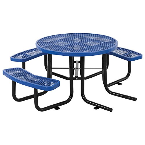 46″ ADA Round Picnic Table, Surface Mount, Blue
