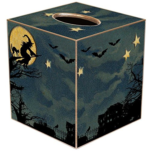 Halloween Scene Paper Mache Tissue Box Cover • Halloween Decorations ()