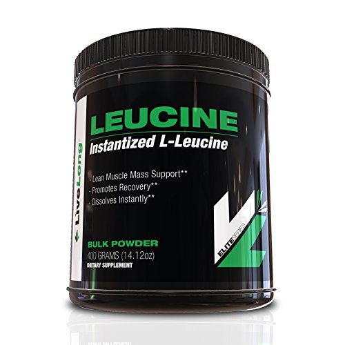 LiveLong Nutrition L-Leucine Bulk Powder – Main Amino Acid in BCAAs, No Additives or Fillers, Build Lean Muscle, Protein Synthesis, Stimulate Muscle Growth, Essential Branched Chain Amino Acid 400g For Sale