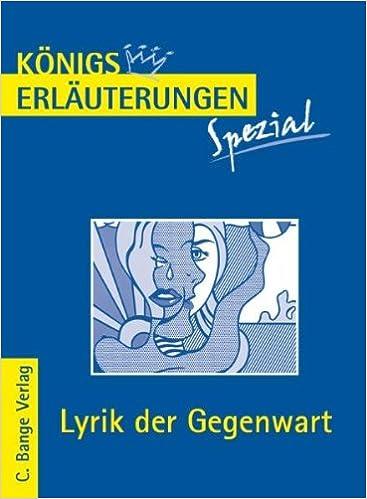 Königs Erläuterungen Spezial Lyrik Der Gegenwart