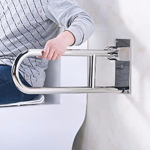 浴室用手すり 障害のない304ステンレスの手すりの老人が障害者のトイレの便器に手を折り畳む手を折り畳む,鏡の光