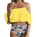 2019 Latest Hot Style! Teresamoon Women Hight Waist Printed Bikini Set Push-Up Padded Bathing Swimwear Swimsuit
