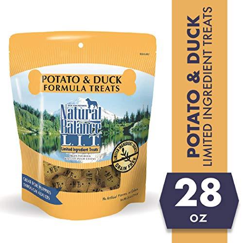 Natural Balance L.I.T. Limited Ingredient Treats Dog Treats, Potato & Duck Formula, 28 Ounce Pouch, Grain Free