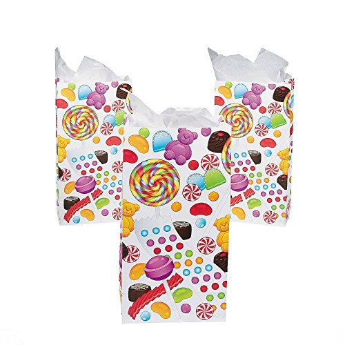SWEET TREATS Candyland CANDY Themed Party Favor Treat PAPER BAGS Sacks from Unbranded