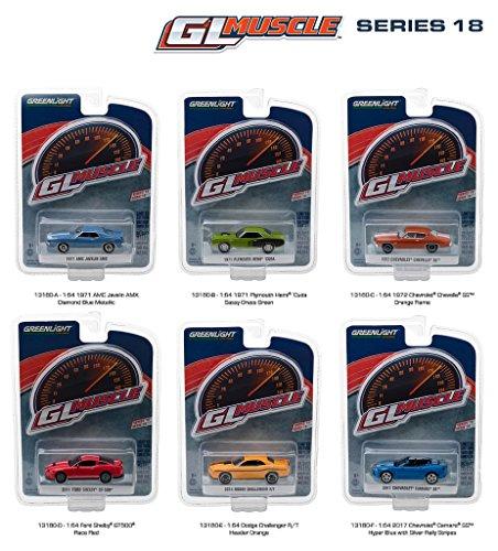 Muscle Car Set - Greenlight 13180 Muscle Series 18 Assortment (6-Car Set)