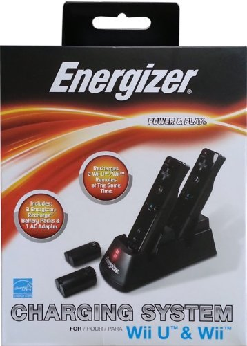 Energizer Power & Play Charging System for the Nintendo Wii U & (Energizer Wii Charger)