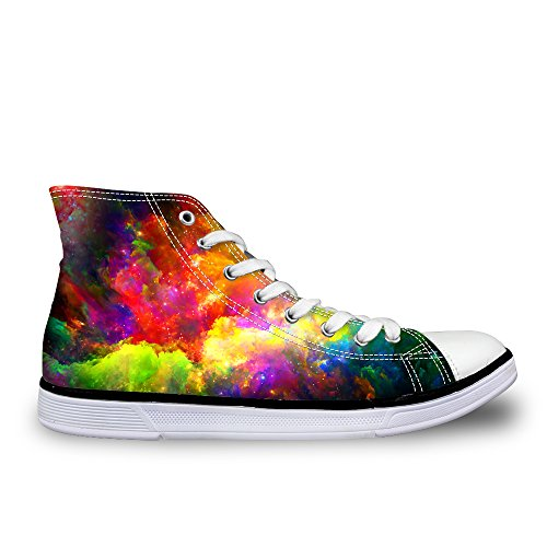 91b3cdadd8f1 LedBack High Top Galaxy Canvas Shoes for Women Causal Sneakers Teenagers  Girls Lightweight 3D Trainers Size