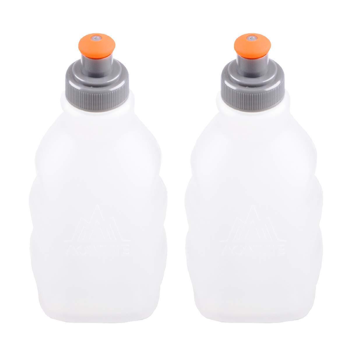 TRIWONDER Botellas de Agua Corrientes a Prueba de Fugas sin BPA - para Cinturón de Hidratación o Chaleco - Ideal para Correr Ciclismo de Senderismo (250 ...