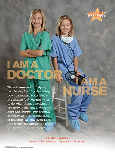 I Am a Doctor I Am a Nurse Laminated Poster For Elementary and Middle