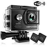 DBPOWER EX5000 Action Camera, 14MP 1080P HD WiFi Waterproof Sports Cam 2 Inch LCD Screen, 170 Degree Wide Angle Lens, 98ft Underwater DV Camcorder With 16 Accessories Kits