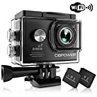 DBPOWER Action Camera , 14MP HD WiFi Waterproof Sports Cam 2 Inch LCD Screen , Degree Wide Angle Lens , 98ft Underwater DV Camcorder With 16 Accessories Kits (A-Action camera) EX5000 1080P 170