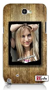 Personalized DIY Custom Distressed Wood Grunge Texture Frame with Image Photo & Name Quality Hard Snap On For Ipod Touch 5 Case Cover (WHITE)