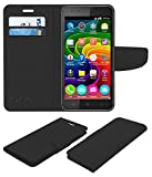 Acm Mobile Leather Flip Flap Wallet Case for Micromax Bolt Q331 Mobile Cover Black
