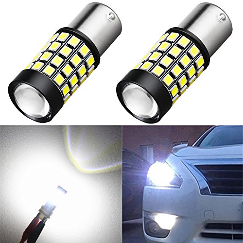 Alla Lighting 1000Lm 51-SMD Extremely Super Bright 6000K White BA15S 1141 1156 7506 P21W LED Bulb High Power 2835 Chipsets LED Back-up Reverse Lights Bulbs Lamps Replacement -